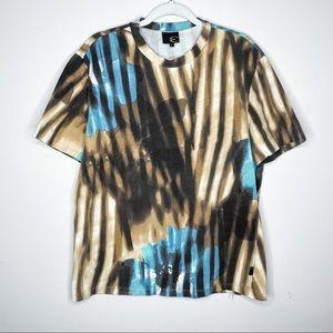 VTG Just Cavalli 70s Floral stripe hippie tshirt